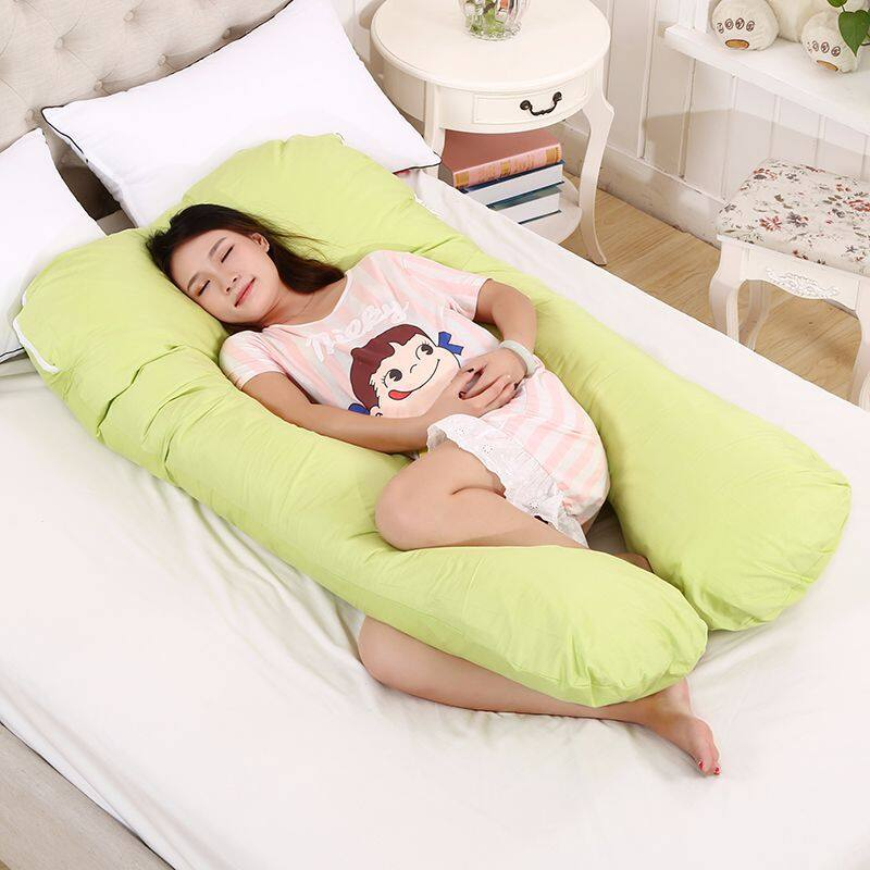 มัลติฟังก์ชั่นตั้งครรภ์ หมอนรูปตัวยูผู้หญิง ผ้าฝ้ายแท้ หมอนข้างที่ถอดออกได้ หมอนรองครรภ์ ที่นอนตั้งครรภ์ หมอนนอน หมอนหนุนตัวยู เบาะนอนคนท้อง