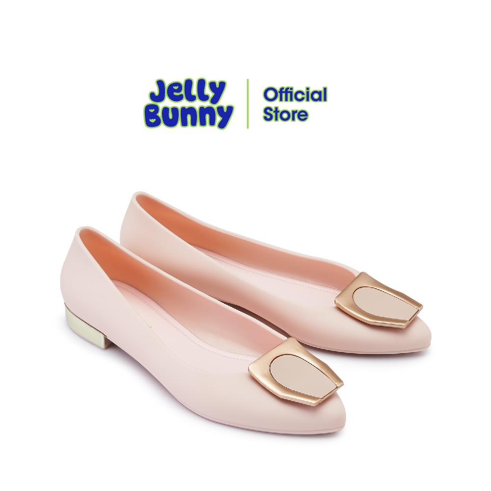 JELLY BUNNY OLIVIA เจลลี่ บันนี่ โอลิเวีย B21SLBI004 รองเท้าส้นแบน รองเท้าบัลเล่ต์ รองเท้าหุ้มส้น รองเท้าแฟชั่น
