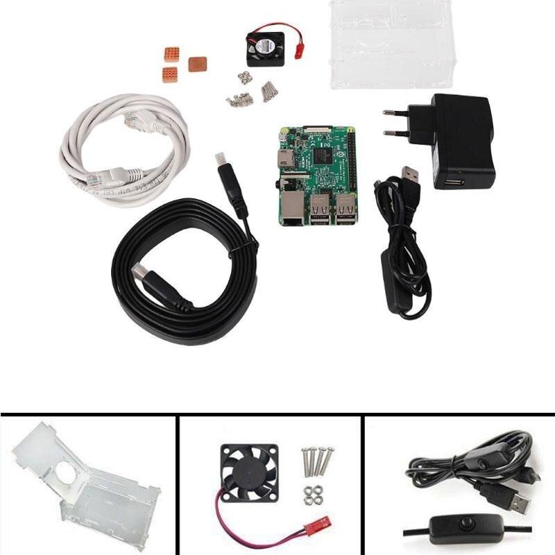 0 shipping fee Starter Kit DIY Set For Raspberry Pi 3 Model B 1GBRAM Quad Core 1.2GHz CPU – intl