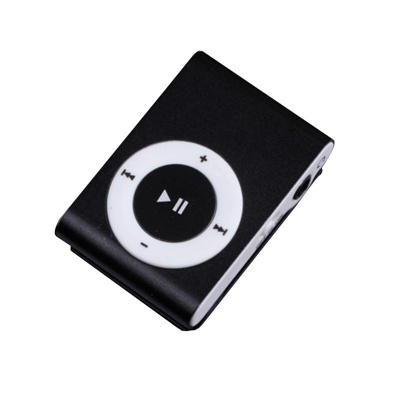 1-8GB Support Micro SD TF Mini Clip Metal USB MP3 Music Media Player Black - intl