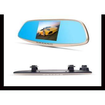 1 FIRSTSCENE D-261 กล้องติดรถยนต์แบบกระจกมองหลังพร้อมกล้องติดท้ายรถรองรับ