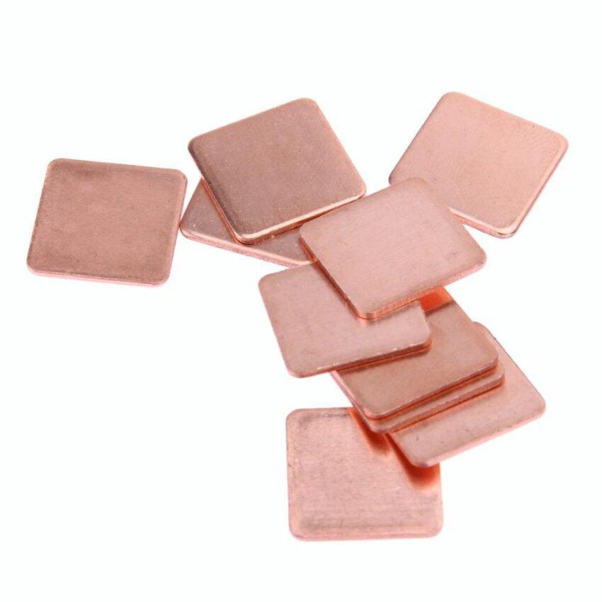 10 pcs 15mmx15mm 0.6mm Heatsink Copper Shim Thermal Pads - intl