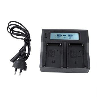 100-240V LCD Dual Battery Charger For Sony NP-F970 NP-F770 F750F550 F570 Series AU Plug intl