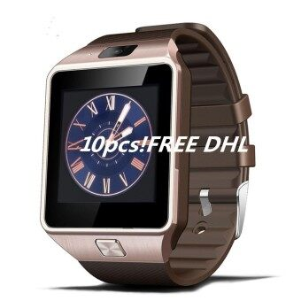 10pcs DZ09 smart watch for Apple android phone support SIM card reloj inteligente smartwatch pk gt08 wearable smart electronics - intl