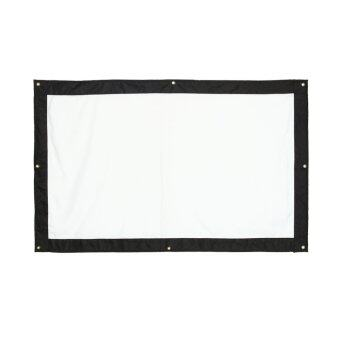 120 Inch 16:9 Indoor Outdoor Film Theater Movie Projection Screen Curtain Projector Matte (White) - intl