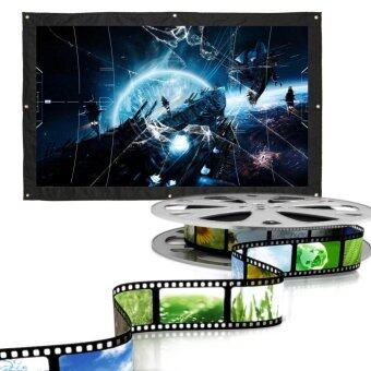 150 Inch 16:9 Indoor Outdoor Film Theater Movie Projection Screen Curtain Projector Matte(White) - intl