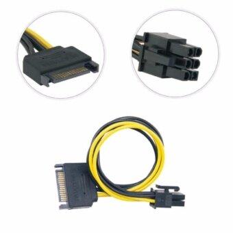 อยากขาย สายแปลง 15pin SATA Power to 6pin PCI Express for Video Card
