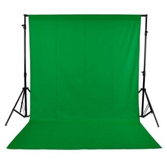 Harga 1.6 x 3M / 5 x 10FT Photography Studio Non-woven BackdropBackground Screen Green ^ - intl