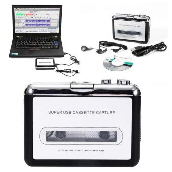 1PC USB Portable Cassette Tape to MP3 CD Converter Capture AudioMusic Player - intl