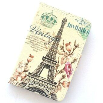 1st Cyber ไอแพด แอร์ 1 ปารีส Vintage Paris Eiffel Tower Flower Leather Case For Apple iPad Air 1