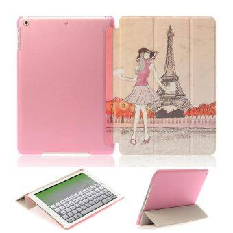 1st Cyber เคสไอแพด แอร์1 ปารีส Vintage Paris Eiffel Tower Pink hard Plastic Case For Apple iPad Air1