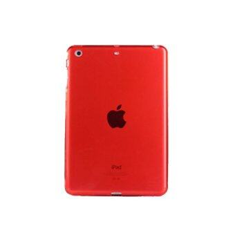 1st Cyber เคสไอแพด มินิ 1/2/3 Transparent Soft TPU Back Cover Skin Shell for Apple iPad Mini 1/2/3 (Red)