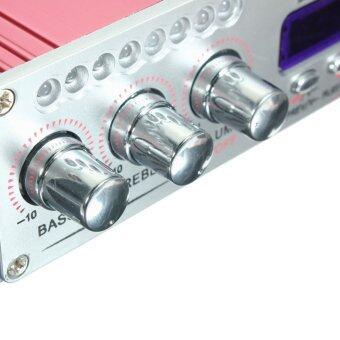 เครื่องเสียงลำโพงเครื่องขยายสัญญาณ 2-CH AMP สำหรับรถมอเตอร์ไซค์ MP3FM เสียงเพลงมินิ - 4