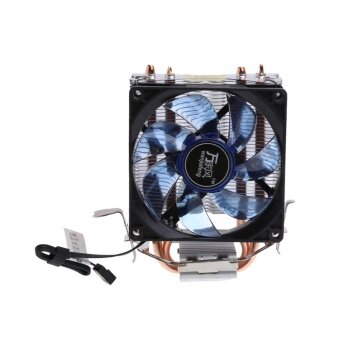 Harga 2 Heatpipe 95W CPU Cooler 3-Pin 90mm LED Fan Aluminum Heatsink Fori3 i5 AM2 AM3 - intl