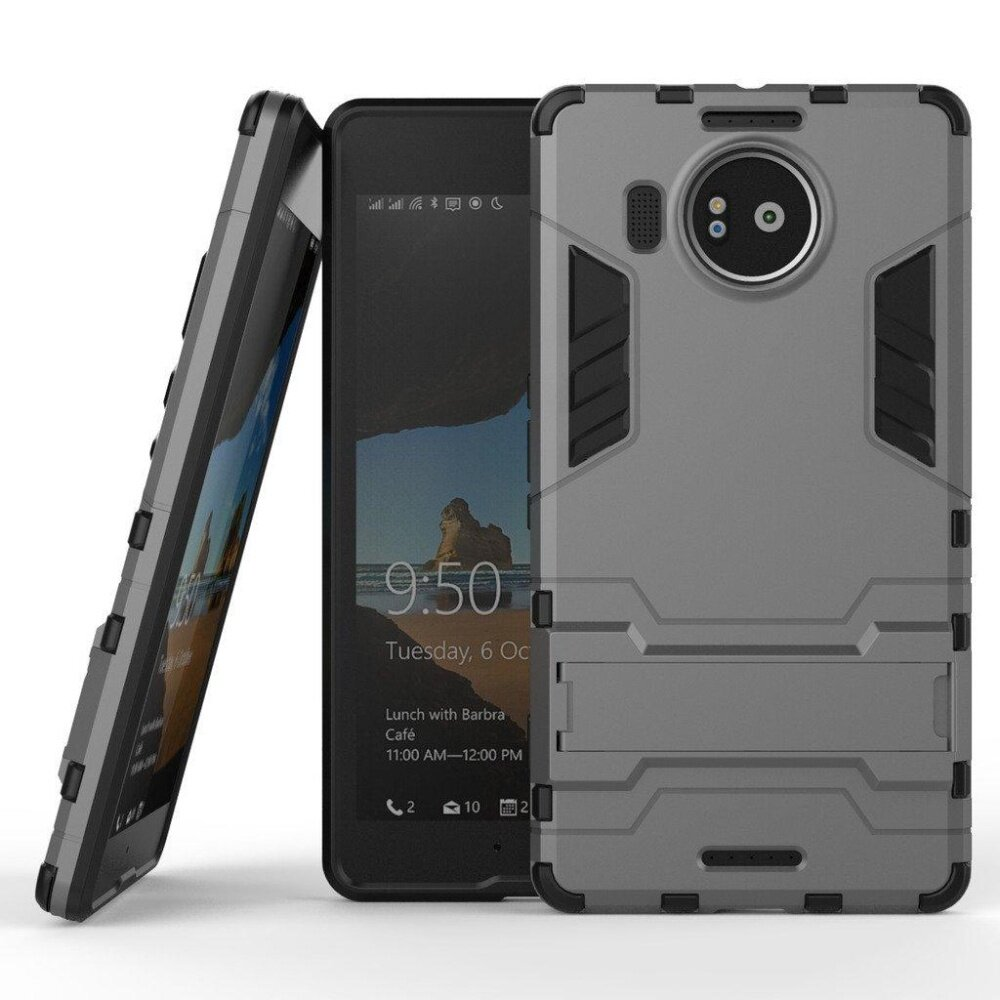 SHOCKPROOF DUAL LAYER HYBRID ARMOR PROTECTIVE COVER WITH KICKSTAND CASE FOR HTC DESIRE .