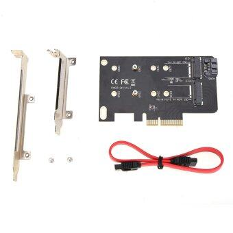 2 Slots Adapter Card of M key M.2 NGFF SSD to PCI-E X4 adapter andB key M.2 NGFF SSD to SATA adapter - intl