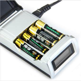 2017 Original C905W 4 Slots LCD Display Smart Intelligent Battery Charger for AA / AAA NiCd NiMh Rechargeable Batteries EU Plug