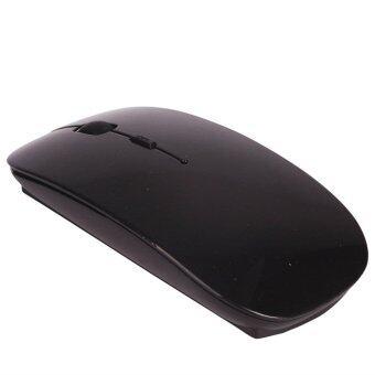 2.4Ghz Wireless บลูทูธ Game Mouse Ultrathin 4 Buttons Mice forApple Ipad/Iphone/Mac Black – intl
