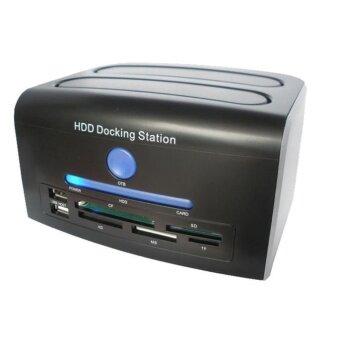 2.5, 3.5 inch SATA IDE HDD Docking Station Dual Hard Disk DriveDock ESATA USB - intl