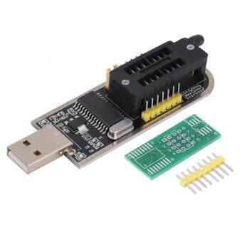 ประกาศขาย 25 SPI ซีรีย์ 24 EEPROM CH341Aยูเอสบีแฟลชไบออสให้โปรแกรมเมอร์เขียนเส้นทางแอลซีดี (สีดำ/สีเหลือง)