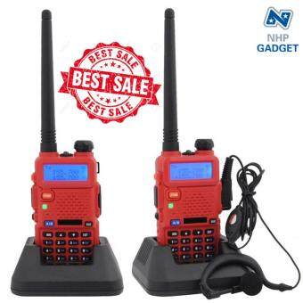 2PCS เครื่องส่งรับวิทยุ BAOFENG UV-5R Dual Band Radio Interphone DTMF FM Walkie-Talkie (RED)