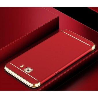 3 In 1 Fashion Ultra Thin Matte Hard Case for For Samsung Galaxy C9Pro/C9(Red) - intl