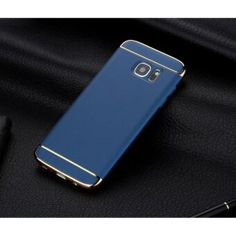 3 In 1 Fashion Ultra Thin Matte Hard Case for For Samsung GalaxyS7(Blue ) - intl