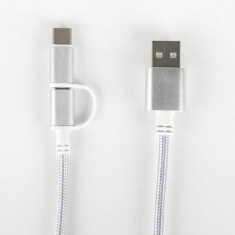 (3 In 1) Type-C & Micro USB & Lightning to USB-A 1MeterDataCharge Cable 2A - intl
