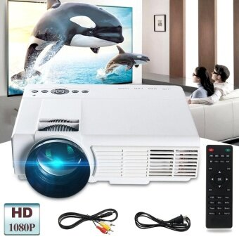 3000 Lumens 1080P Full HD LED Video Projector Multimedia Theater TV USB VGA PC - intl