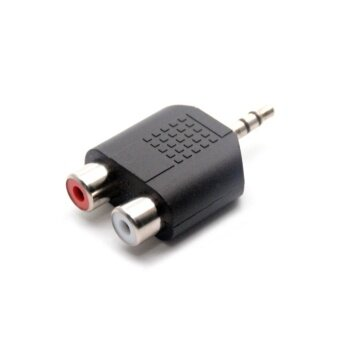 3.5mm Jack Stereo Male To 2 RCA Plug Female Adapter M/F Y Splitter RCA Audio Adapter Connector 3.5mm Audio Cable - intl