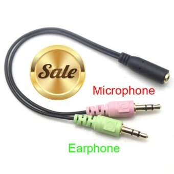 Harga 3.5mm Stereo Audio Female to 2 Male Headphone Mic Y Splitter Cable Adapter