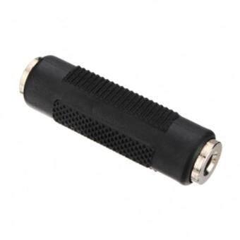 3.5mm Stereo Female to 3.5mm Female F/F Audio Adapter Coupler (สีดำ)