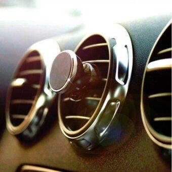 จัดโปรโมชั่น ที่ยึดมือถือในรถระบบแม่เหล็ก แบบเสียบช่องแอร์ หมุนได้ 360 องศา Rotation Magnetic Mount Holder(Black)