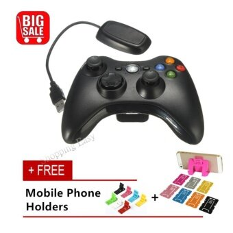 360 Wireless console Xbox 360 Wireless Game Controller 2.4GHz Controller with PC Receiver For Microsoft Xbox 360 For Xbox360 and PC Computer - intl