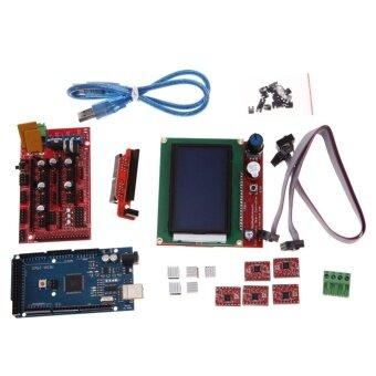 อยากขาย 3D Printer Kit RAMPS 1.4 MEGA2560 A4988 LCD 12864 Controller Boardfor RepR - intl