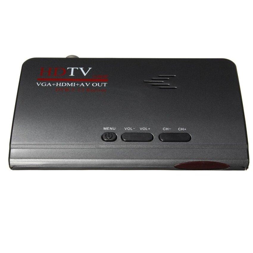 3pcs Digital Terrestrial HDMI 1080P DVB-T T2 TV Box VGA AV CVBS Tuner Receiver Remote US - intl
