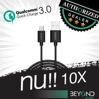 [สายหนา 4 mm] สายชาร์จ Aukey Quick Charge 3.0 Compatible Micro 2.0USB Cable สายชาร์จ/สายซิงค์ รองรับการชาร์จไวจากระบบ Fast ChargeQualcomn QC3.0+2.0 ยาว 2 เมตร สีดำ
