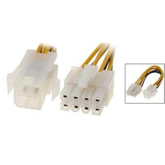Harga สายเเปลง 4 PIN TO/ 8 PIN 4-pin Female to 8-pin Male 12v ATX powerconnector