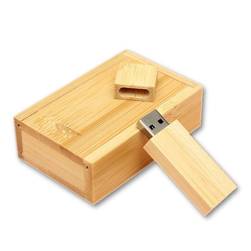 มาใหม่ 4G-32G Wooden USB Memory Flash Drive Stick Pen Storage Device With Bamboo Box 4G - intl