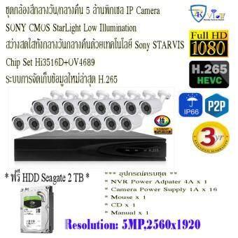 5MP 16CH Starlight H.265 + NVR Kits