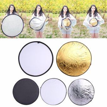 5 in 1 60cm Light Mulit Collapsible Disc Photography PanelReflector Diffuser - intl