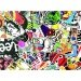 50 Pcs Laptop Stickers Cartoon Removable Skateboard StickersBicycle Car Stickers - intl