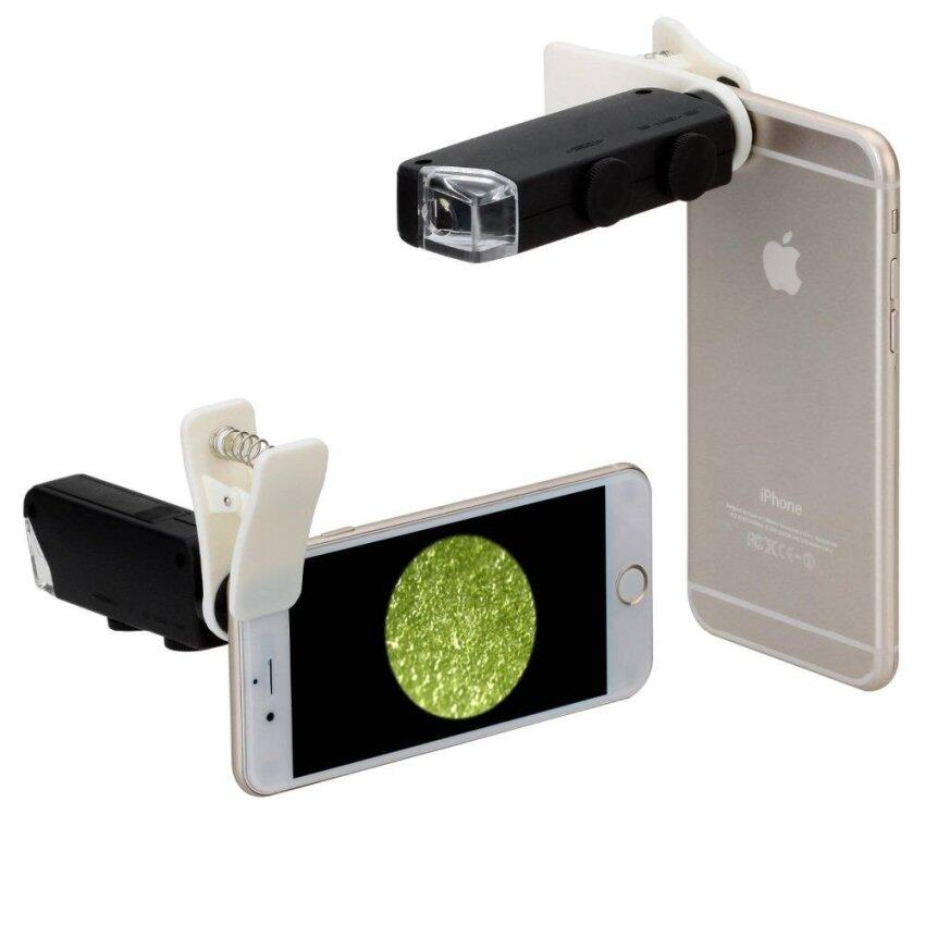60X-100X Optical Zoom LED Microscope Lens with Clip for MobilePhones - intl
