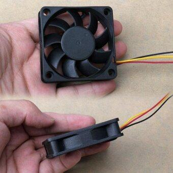60x60x15mm 3 Pin 12V Case Computer Cooler Cooling Fan PC Black E