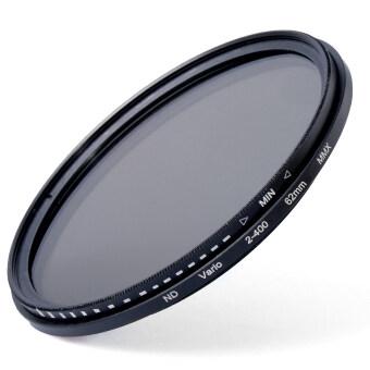 62mm Slim Fader Variable ND Filter Adjustable ND2 to ND400 for DSLR\nLens