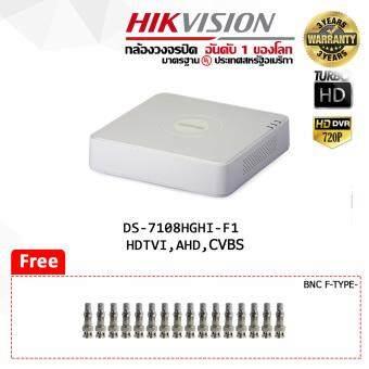ต้องการขายด่วน เครื่องบันทึกกล้องวงจรปิด ขนาด 8 ช่อง (รองรับกล้องระบบ HDTVI / AHD/ CVBS 1ล้าน @720P) Hikvision Turbo HD DVR DS-7108HGHI-F1 แถมฟรีหัวBNCเกรียว 16 ตัว