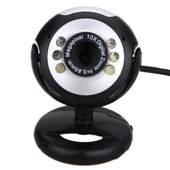 8 Mega Pixels 50M 6 LED USB Webcam Camera with Mic for PC Laptop Computer