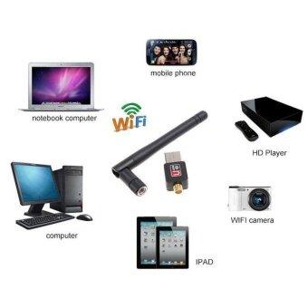 จัดโปรโมชั่น 802.11n/g/b 150Mbps Mini USB WiFi Wireless Adapter Network LAN Cardwith Antenna - intl