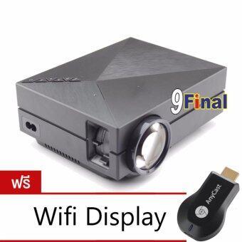 9FINAL Projector LED โปรเจคเตอร์ รุ่น GM60 1000Lumens\nความละเอียด800x480 ฟรี Wifi display\nReceiverใช้เชื่อมต่อมือถือขึ้นจอทีวี