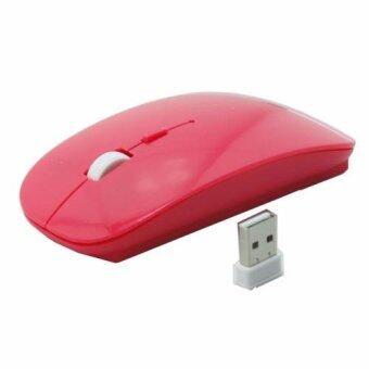 9FINAL เม้าส์ไร้สาย Super Slim Wireless Mouse, Ultra Slim WirelessMouse For PC Laptop and Android tv box ( สี Pink บานเย็น) (image 1)